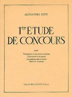 Alexandre Petit: 1ère Etude de Concours