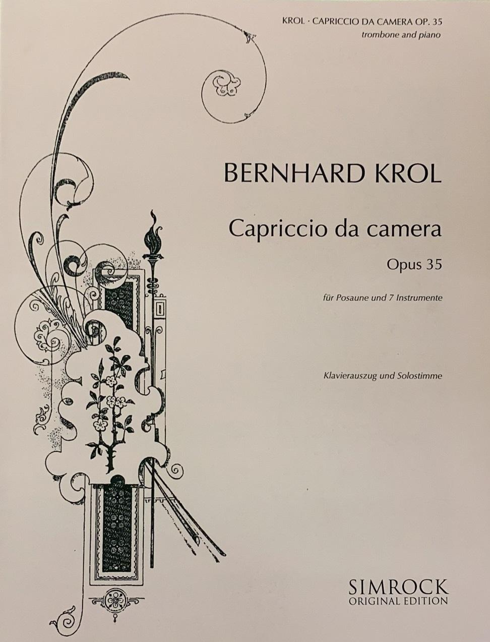 Krol: Capriccio Da Camera for Trombone